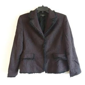 Tahari Wool Tweed Blazer